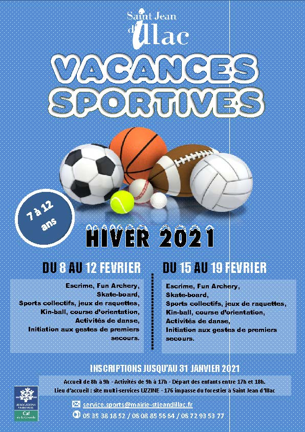 Vacances Sportives Hiver 2021