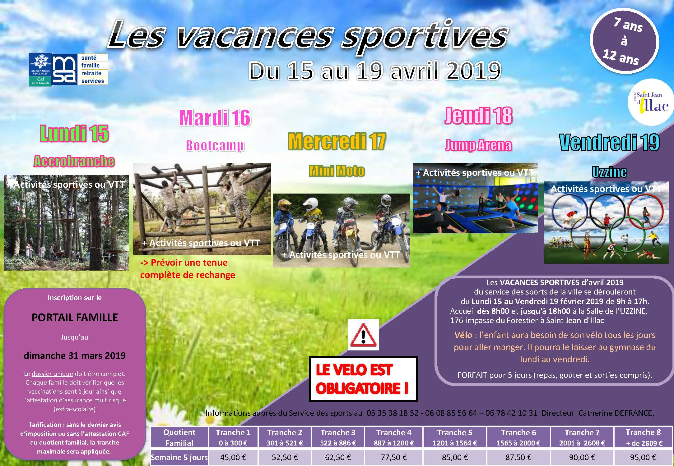 Vacances Sportives Paques 2019 Page 1